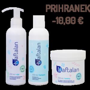Akcija - Naftalan krema + olje + šampon
